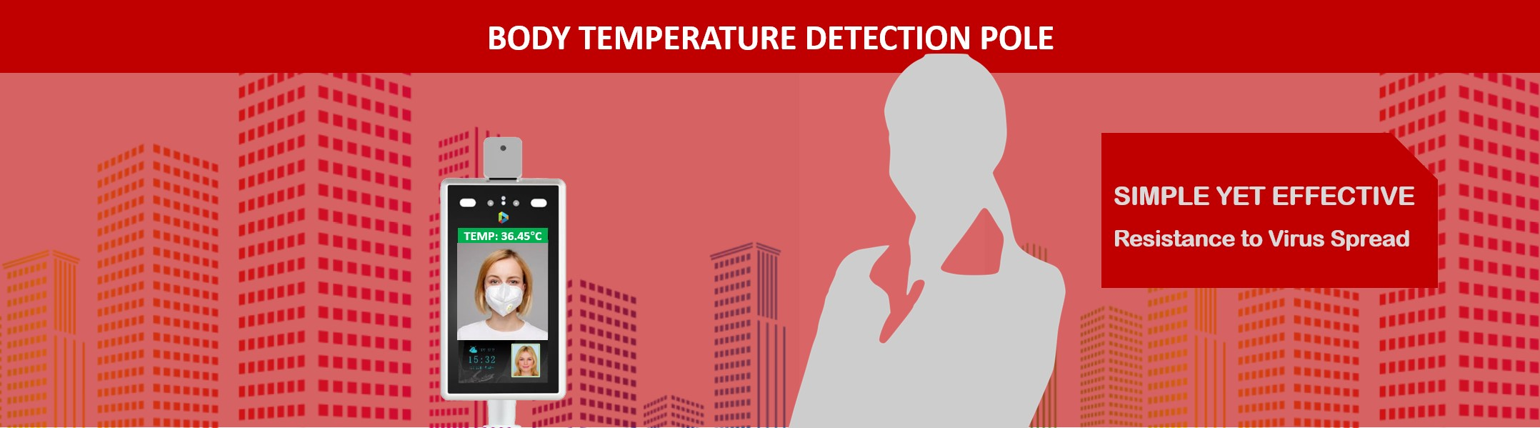 Body Temperature Detection Pole